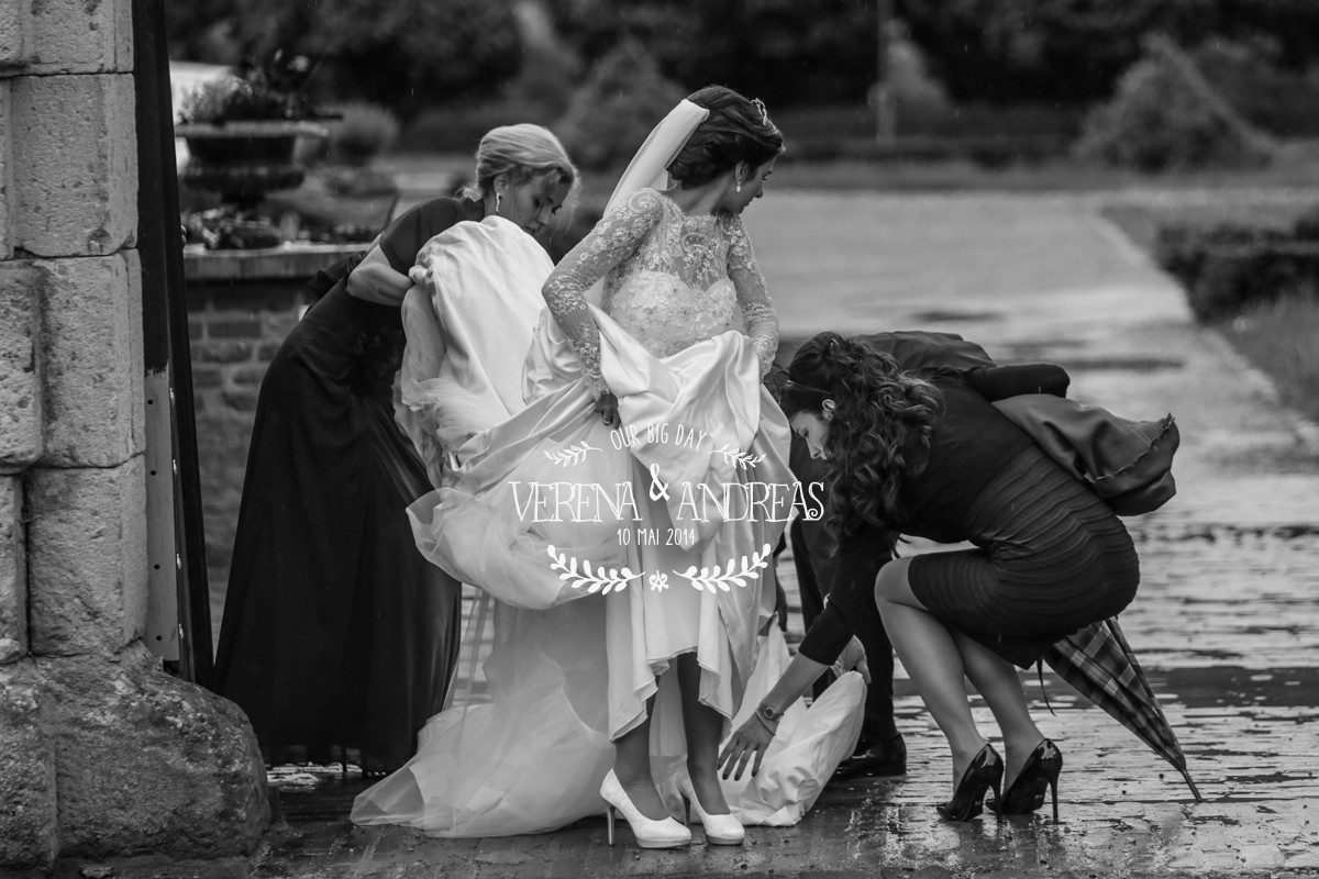 A beautiful raining wedding day